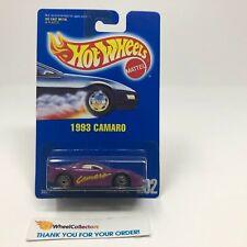 #6  1993 Camaro #202 * Purple w/ Clear Window * Hot Wheels Blue Card * NA50