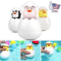 Bath Toy Duck Penguin Egg Water Spray Sprinkler Shower Gifts Baby Toys Bath Fun