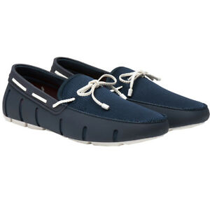 Swims NEW Men's Braided Lace Loafers - Navy / White BNWT