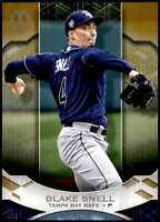 Blake Snell 2019 Topps Tribute 5x7 Gold #81 /10 Rays