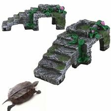 Resin Turtle Reptile Platform Basking Ramp Tank Water Aquatic Climb Ornament