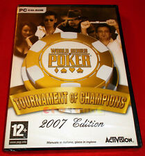 WORLD SERIES OF POKER TOURNAMENT OF CHAMPIONSHIP 2007 EDITION Pc ○ NUOVO - FD