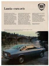 1979 LANCIA Beta Coupe Vintage Original Print AD - Blue car photo canada variant