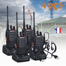 BF-888S Talkie Walkie Radio Longue Portée Rechargeable 4 PCS
