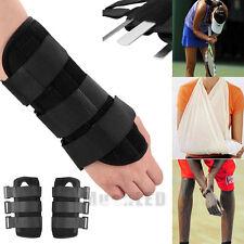 New Pair Carpal Tunnel 2 Wrist Brace Support Sprain Forearm Splint Band Strap