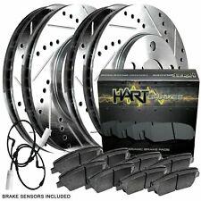 Fit 2002-2006 Mini Cooper HartBrakes Full Kit Brake Rotors+Ceramic Brake Pads