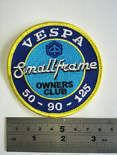 Vespa Small Frame Owners Club Patch - Embroidered - Iron or Sew On