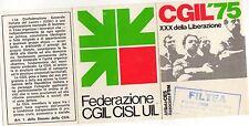 TESSERA  CGIL  FILTEA   1975   PROVINCIA  DI  BRESCIA