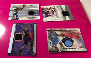 NBA Vince Carter Game-Worn Cards Serially Numbered Rare Raptors UNC - 4