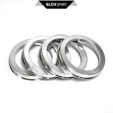 Silver Wheel Hub Rings 57.1-73.1 (4pc) for BMW E30, 320i, 323i, 325e, 325i 1980+
