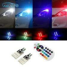 2x High Power 3W RGB Remote Control LED bulb Parking lights t10 194 168 w5w 2825