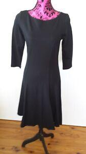 Laura Byrnes California Spring 2015 black pinup dress Size L USA designer BNWT
