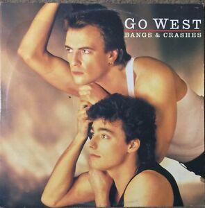 GO WEST Bangs & Crashes 2LP g/fold 1985 Chrysalis EX/EX