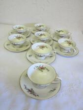 Rosenthal Moss Rose Pompadour 8 Demi Cups and Saucers 16 pc set