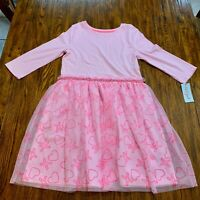 Cat & Jack Girls Dress size 14/16 pink with hearts