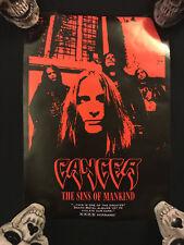 Cancer The Sins of Mankind Promotional Poster Vintage 1993 Kerrang Restless