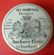 Burgess's Genuine Anchovy Paste  Pot Lid 107 Strand Savoy Steps London