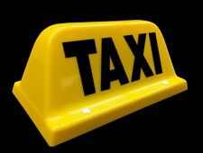 HACKNEY / PRIVATE HIRE TAXI CAB ROOF SIGN SMALL YELLOW MAGNETIC TOP LIGHT LED