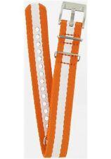 Fossil Fabric Nylon Field Canvas Orange White Watch Strap Wrist Band 19mm AMS132