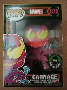 Marvel Carnage *Blacklight* #678 Funko Pop! Vinyl + Protector *In hand*