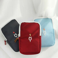 Portable Accessories Travel Carry Organizer Case Storage bag Various USB Cable