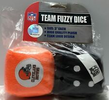 "(TAS033691) - NFL Collectible 3"" Team Fuzzy Dice - Cleveland Browns"