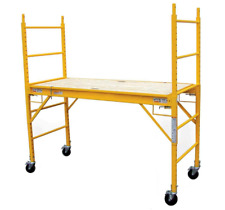 Multi-Use Drywall Baker Scaffolding with 1000 lb Rolling Pro Adjustable New