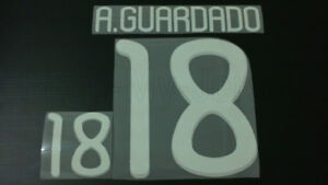 ANDRES GUARDADO #18 Mexico Home & Away World Cup 2010 Name Set