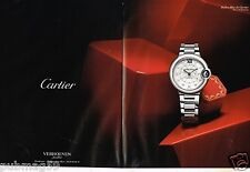 Publicité advertising 2014 (2 pages) La Montre Cartier Ballon Bleu