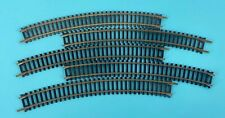 """LOT OF 5 Tyco 15685 HO Scale 18"""" Radius Curved Track Vintage Made Austria"""
