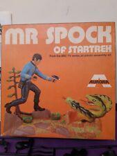 Aurora Startrek model Spock kit   original 1970s complete  made  in  Bexhill  uk