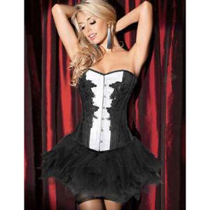 Deluxe Black Swan Burlesque Costume Corset