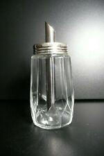 Vintage American Diner Style Glass Measured Sugar Dispenser Stainless Steel Top