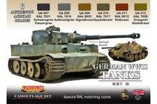 LifeColor CS03 German WWII Tanks Set 2 6x 22ml Acrylic Colours