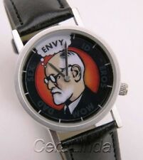 FREUD WATCH wristwatch Sigmund Psychology ID Ego funny! ANIMATED new