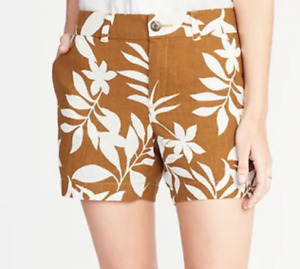 Old Navy Mid-Rise Printed Linen-Blend Everyday Shorts for Women Size 10  NWT