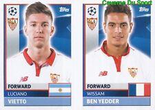 SEV18 BEN YEDDER LUCIANO VIETTO SEVILLA.FC STICKER CHAMPIONS LEAGUE 2017 TOPPS