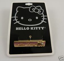 Hello Kitty adjustable double ring goldtone Sanrio