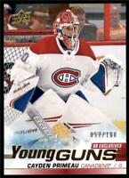 2019-20 Series 2 Exclusives Young Guns #454 Cayden Primeau /100