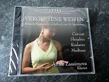 """CD Russische Klaviermusik """"Vergessene Weisen"""" Anna Zassimova Klavier Traumhaft"""