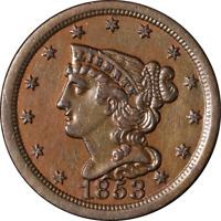 1853 Half Cent Nice BU Details C-1 R.1 Nice Eye Appeal Nice Strike