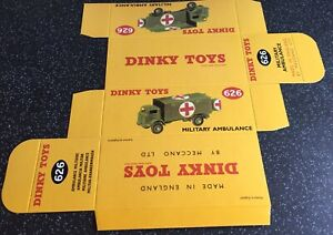 DINKY TOYS Reproduction Box For 626 Military Ambulance Repro Military Army