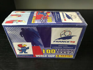 1998 Panini World Cup Trading Cards Factory Sealed Box