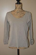 CAMAIEU => T-shirt manches longues kaki marron gris taille 3 soit L 40 42 SEV