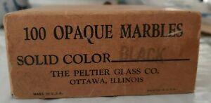 PELTIER BOX 100 Black Marbles Very Good Condition