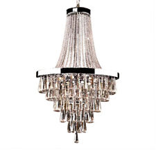 Large Foyer Empire Gold Crystal Chandelier Chrome Chandeliers Lighting Modern