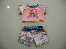 Build A Bear Stuffed Animal 2 Piece Top & Bottom Shorts Set Outfit Smurfette