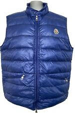 NEW, MONCLER MEN'S 'GUI' BLUE DOWN VEST, 5, $830