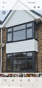 Anthracite And White Bay Window