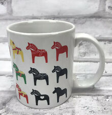 Coffee Mug Tea Cup Dala Horse Dalahäst Multi Color 10oz Swedish Sweden Sverige